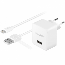 Macally - AC Charger USB (2.4A) + Lightning