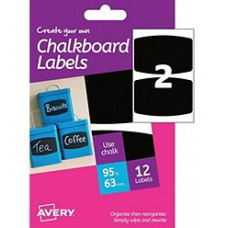 Avery - A6 Chalkboard Labels HCH02 (rectangular 2x)