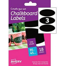 Avery - A6 Chalkboard Labels HCH04 (oval 3x)