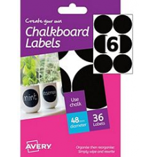 Avery - A6 Chalkboard Labels HCH05 (circular ø 48mm)