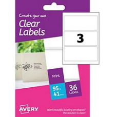 Avery - A6 Clear Labels HCL01 (rectangular 3x)