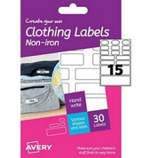 Avery - A6 Clothing Labels non-iron HNI01