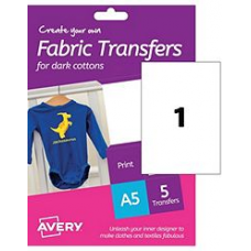 Avery - A5 T-Shirt Transfer HTT02 (dark cottons)