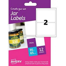 Avery - A6 Jar Labels HJJ01 (rectangular 2x)