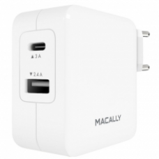 Macally - AC Charger 24W (USB + USB-C) w/ cable